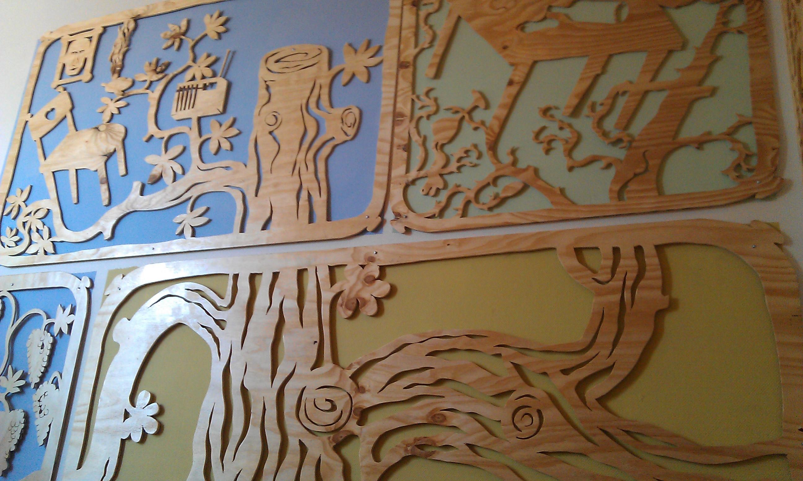 Levensloop - 7 panelen met de (s)loop des levens -Merijn Tinga - Atelier Tinga
