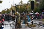waterrad aangedreven machine voor de drie oktober optocht
